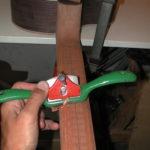 Gitarrenbau Christian Stoll: Hals: Der Hals wird grob in Form gebracht.