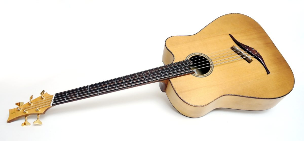 5-saiter Akustik Bass multiscale fächerbünde