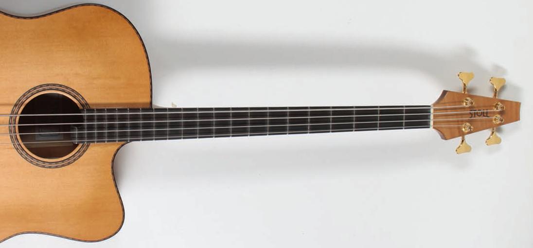 Gitarrenbau Christian Stoll: Akustische Bassgitarre - der legendäre Akustikbass - Hals