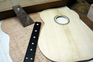 Fingerstyle silver Oak sterne inlay stoll gitarrenbau