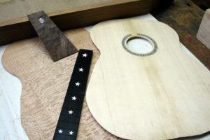 Fingerstyle silver Oak sterne inlay stoll gitarrenbau