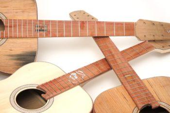 Bembel Geripptes Fass Einlage Griffbrett Westerngitarre aus Apfelweinfass
