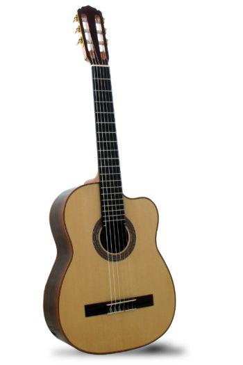 Gitarrenbau Christian Stoll: Dozentengitarre kleine Konzertgitarre mit tiefem Korpus
