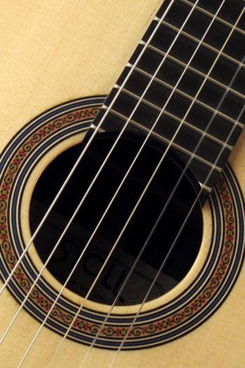 Gitarrenbau Christian Stoll: Dozentengitarre kleine Konzertgitarre - Rosette