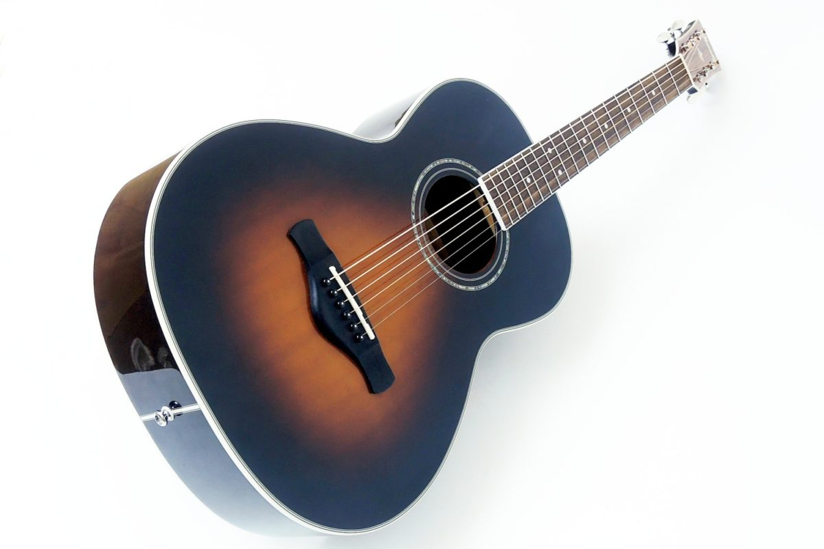 Ibanez AVN1-BS Parlour schwarz sunburst western gitarre gitarrenbauer