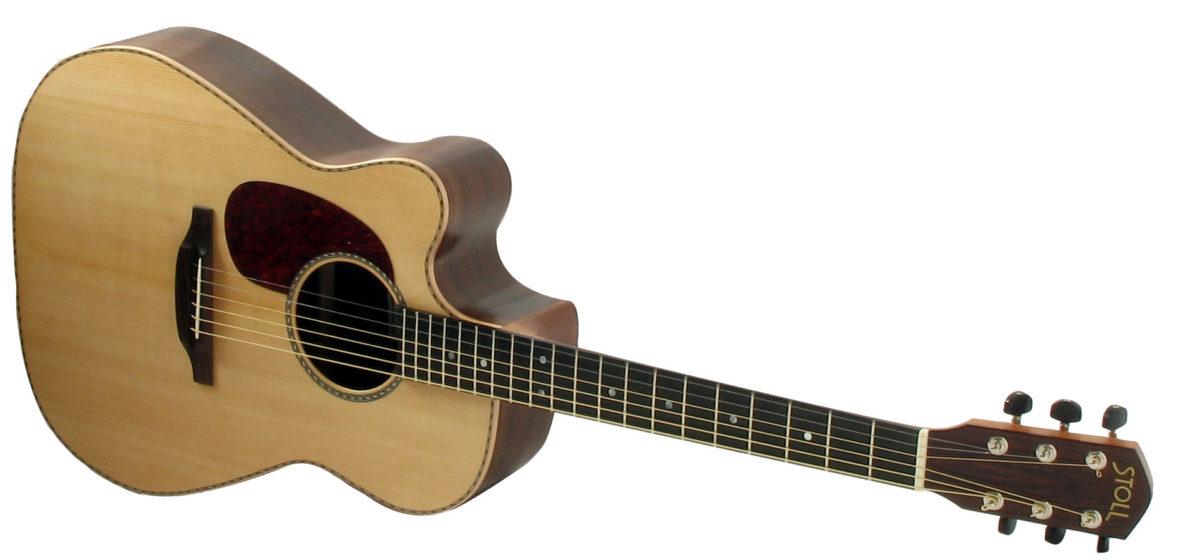 Gitarrenbau Christian Stoll: Linkshändergitarre Stahlsaiten-Gitarre mit Cutaway