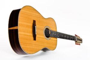 Gitarrenbau Christian Stoll: 12-saitige Stahlsaitengitarre Ambition 12 - schräg
