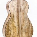 Gitarrenbau Christian Stoll: Stahlsaiten-Gitarre Ambition Parlour - Boden und Zargen aus spalted Mango von hinten