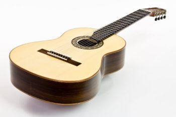 Gitarrenbau Christian Stoll: 8-saitige Klassische Gitarre Classic Line I 8-string - von oben