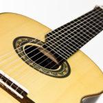 Gitarrenbau Christian Stoll: 8-saitige Konzertgitarre Classic Line I 8-string - Steg und Rosette