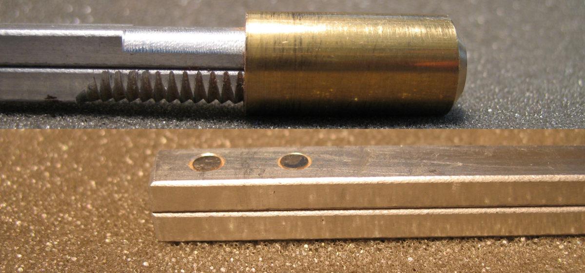 Zweiteiliger Halseinstellstab aus Aluminium