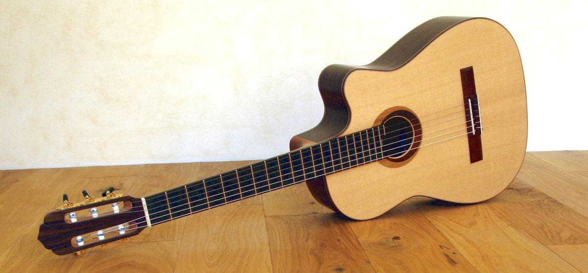 Gitarre Alegra mit Stahlsaiten und Spezial-Rosette