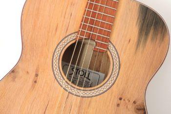 Fingerstyle Gitarre Apfelweinfass Volleiche Gitarrenbauer Stoll Rosette