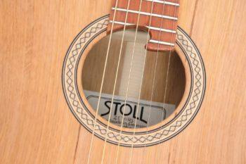 Fingerstyle Gitarre Apfelweinfass Volleiche Rosette Gitarrenbauer Stoll