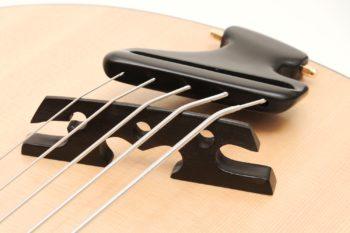 archtop akustik bass fächerbünde bevel fanned frets