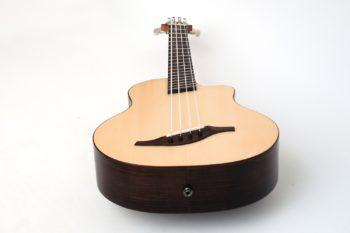 akustik bass ukulele fanned frets faecherbuende multiscale zargenschallloch tonabnehmer