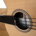 Der legendäre Akustikbass fretless - Rosette