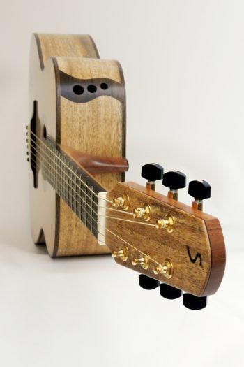stahlsaiten gitarre mango zarge schalloch 3 loecher