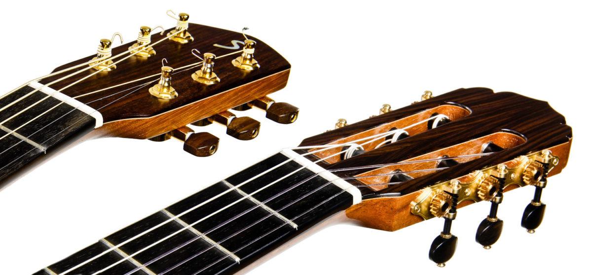 Gitarrenbau Christian Stoll: Halsbreite - Verhältnis Konzertgitarre Stahlsaitengitarre