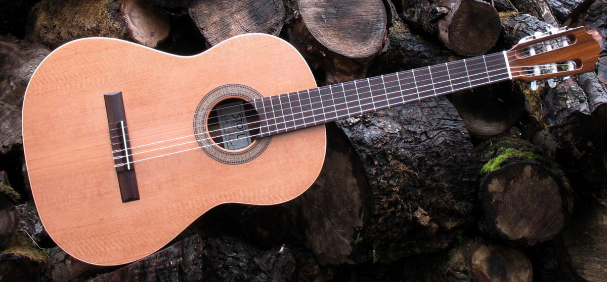 klassische Linkshänder-Gitarre primera palisander zeder
