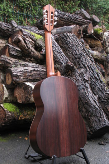 klassische Linkshänder-Gitarre primera palisander zeder - Boden