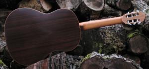 Klassische Gitarre Boden und Zargen aus indischem Palisander