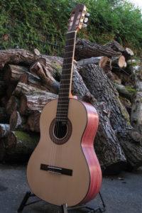 Klassische Gitarre Boden und Zargen aus Veilchenholz