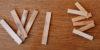 Sattel- und Stegmaterial aus naturbelassenem Knochen