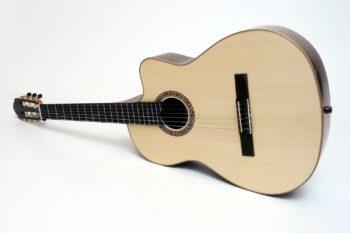 Konzertgitarre für Allergiker Bünde und Saitenwicklung aus Edelstahl
