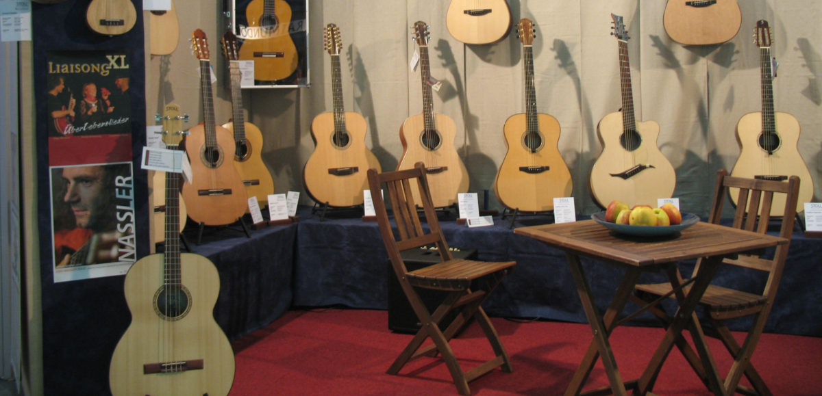 Gitarrenbau Christian Stoll: Messestand Stoll Guitars 2013