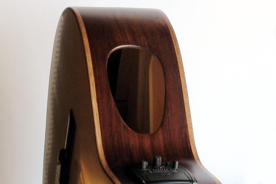 Gitarrenbau Christian Stoll: messeneuheit 2014 Doppelhalsgitarre - Zargenschalloch