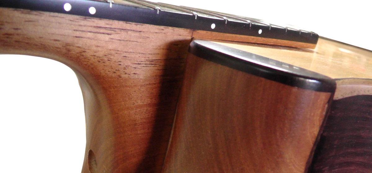 Gitarrenbau Christian Stoll: messeneuheit 2014 Doppelhalsgitarre mit 2 Decken - Halsansatz
