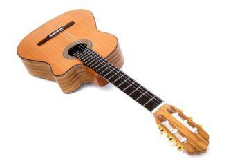crossover cutaway nylonsaiten klassische gitarre walnuss zeder