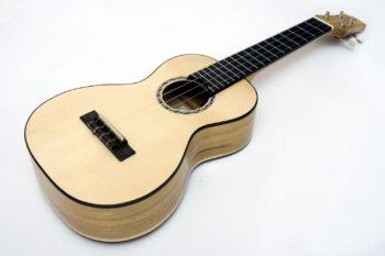 walnut spruce professional soloist concert ukulele luthier