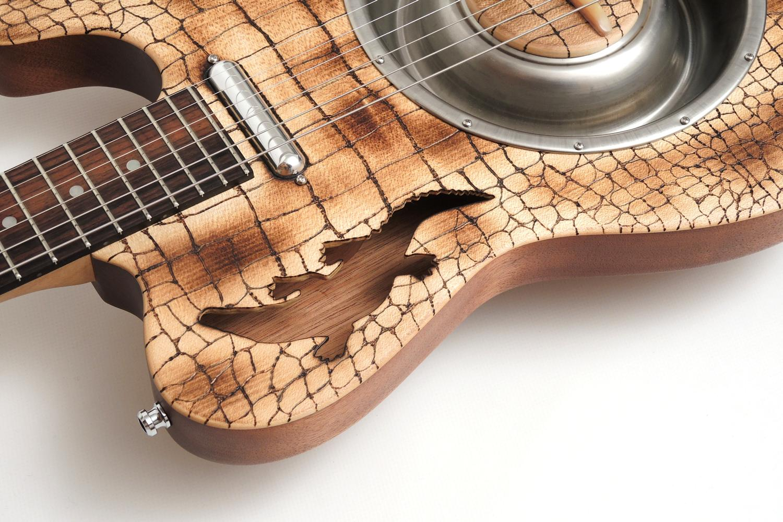 resonator telecaster e gitarre krokodil resodile bastian ortner blues bones
