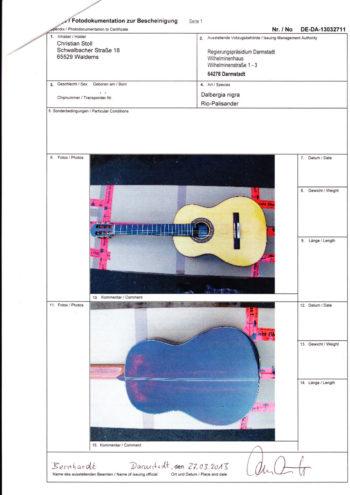 Gitarrenbau Christian Stoll: Riopalisander CITES Seite 2