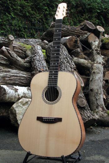 Stahlsaiten-Gitarre mit 3 Tonabnehmern - Ambition Silbereiche