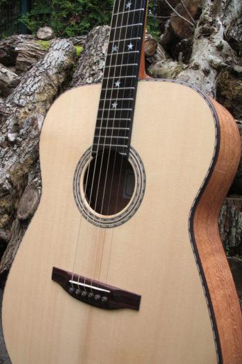 Stahlsaiten-Gitarre mit 3 Tonabnehmern - Ambition Silbereiche - Rosette