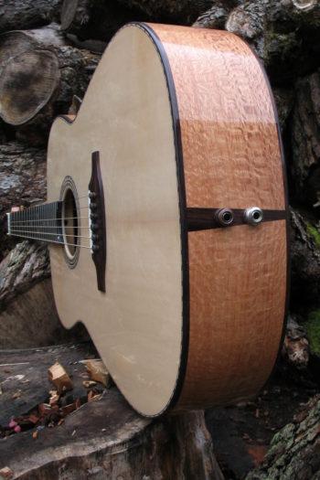 Stahlsaiten-Gitarre mit 3 Tonabnehmern - Ambition Silbereiche - Unterbug