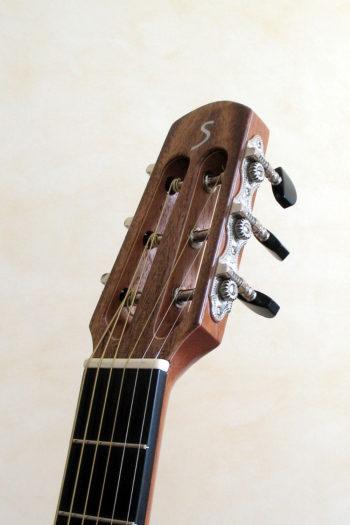stahlsaiten-gitarre zeder indische walnuss - Kopf