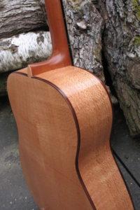 Stahlsaiten Gitarre indische Silbereiche: Ambition - Zarge