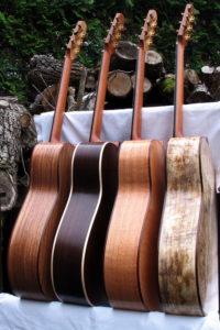 Stahlsaiten-Gitarre Indische Walnuss, indischer Palisander, indische Silbereiche, gestockter Mango