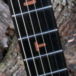 Griffbretteinlagen Inlay Buchstaben aus Holz in Westerngitarre ,Gitarrenbau Christian Stoll