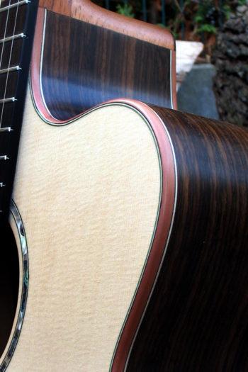 Gitarrenbau Christian Stoll: Stahlsaitengitarre Ambition Fingerstyle Cutaway Randeinlagen aus Birne
