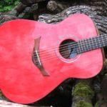 Gitarrenbau Christian Stoll: Sonderanfertigung Ambition - Decke rot lasiert