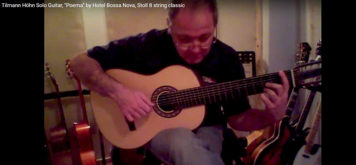 Gitarrenbau Christian Stoll 8-saitige Konzertgitarre Classic 8 gespielt von tilmann höhn poema von Bossa Nova