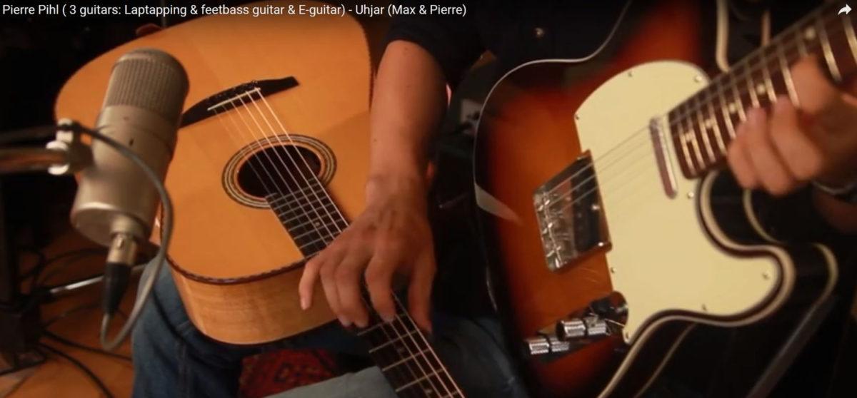 Pierre Pihl auf Steelstring Stoll Ambition Silver Oak und 2 weiteren Gitarren