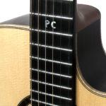inlay initialen griffbrett western gitarre christian stoll gitarrenbauer
