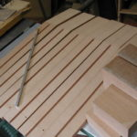 Neck: The necks are cut, the channel for the trussrod is milled