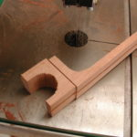 Neck: The heel is sawed in a rough shape.